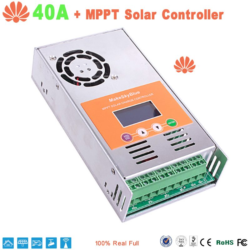 40A MPPT Solar Charge Controller for 12V 24V 36V 48V DC Acid and ...