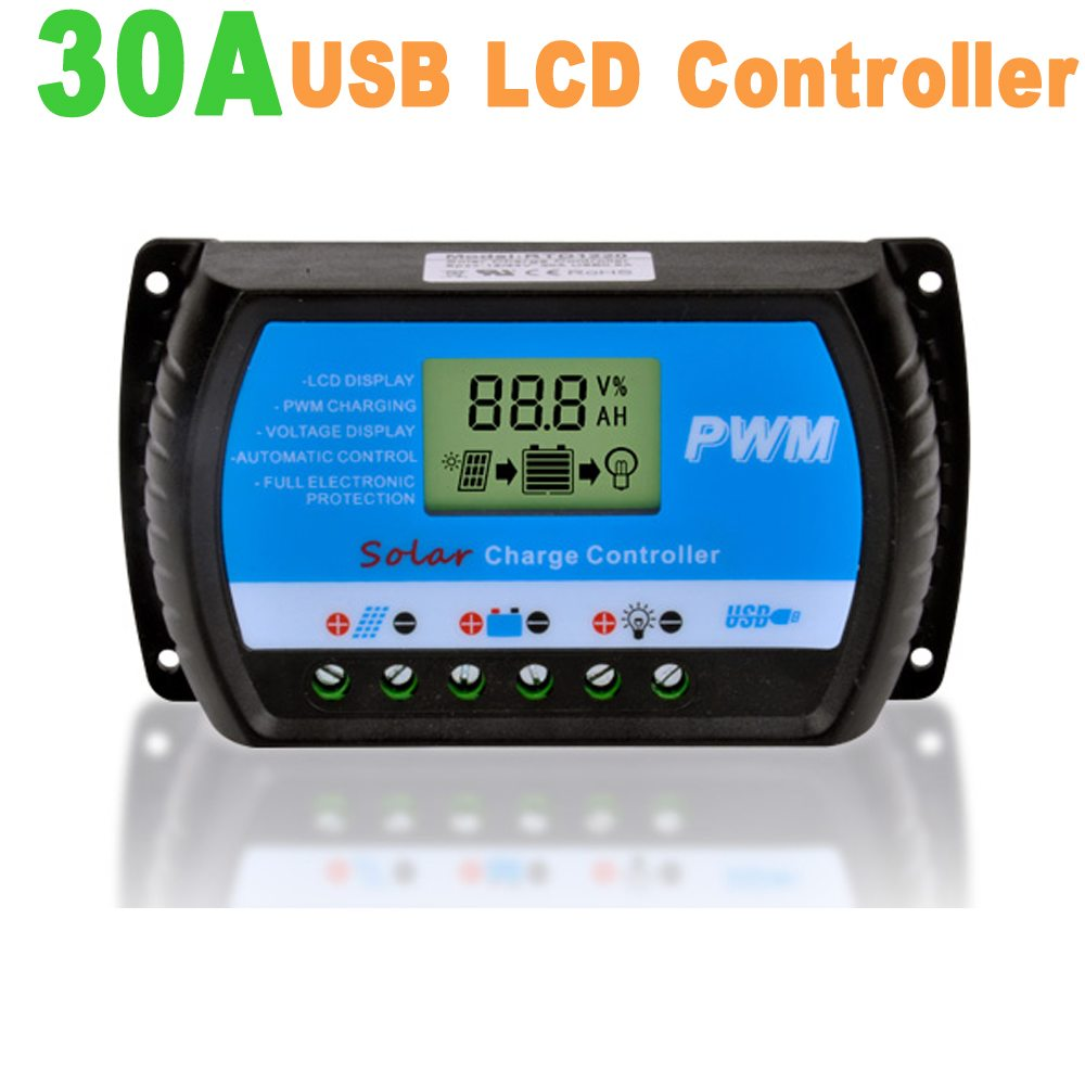 10a 12 24v Rtd Solar Charge Controller With Lcd Display 5v Usb Pwm Manual Buy Jawmall