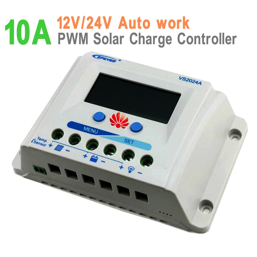 10a Epever Vs1024a Pwm Epsolar Solar Charge Controller 12v 24v Auto Work